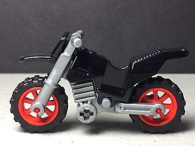Lego Town// City Lime Dirt Bike Black Frame /& Grey Wheels  New