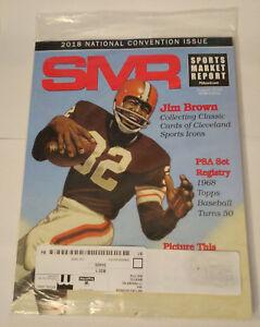 SMR-Sports-Market-Report-PSA-DNA-Guide-Magazine-289-Jim-Brown-Aug-2018-SEALED