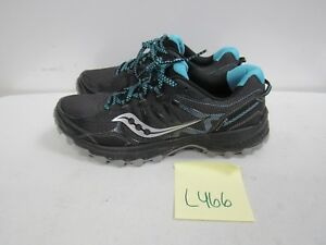 Details about Womens Saucony Runanywhere Excursion TR Black Running Shoes Size 9.5M L466