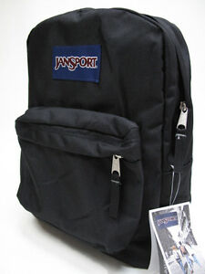26a234ae2 Image is loading JANSPORT-SUPERBREAK-BLACK-BACKPACK-100-AUTHENTIC-NEW-w-