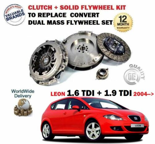 1.9 TDI 2004-/>NEW CLUTCH FLYWHEEL CONVERSION KIT FOR SEAT LEON 1.6 TDI