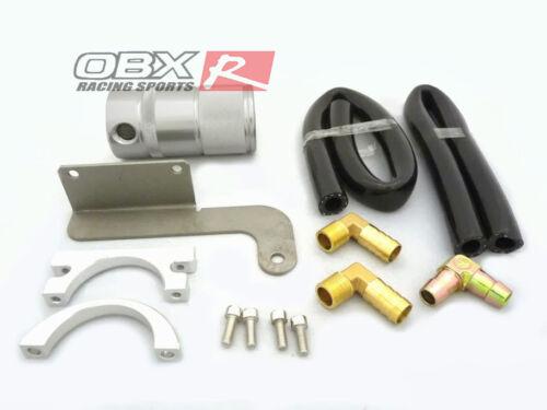 OBX Silver Billet Air Oil Separator for 2011-2014 Mustang Roush SC 5.0L V8