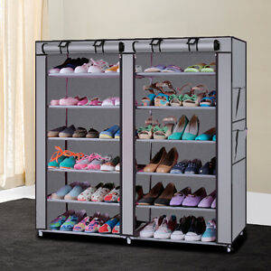Image Is Loading Home Shoe Rack 6 Tier Shelf Storage Closet