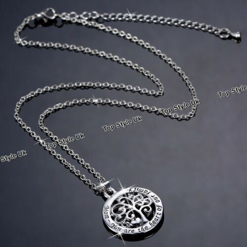 Engraved Silver Necklaces for Mother Mum Gifts for Her Birthday Christmas Mom S1