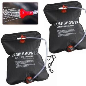20//40L Solar Water Heated Camping Shower Bag Portable Outdoor Hiking Camp Bag 3