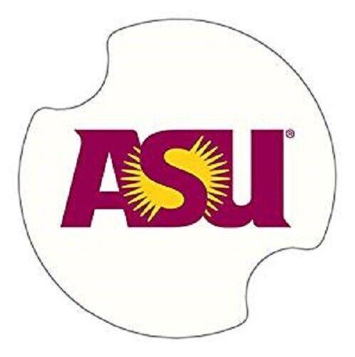 Arizona State University Carsters 2 Pack Ceramic Car Coasters #DASU