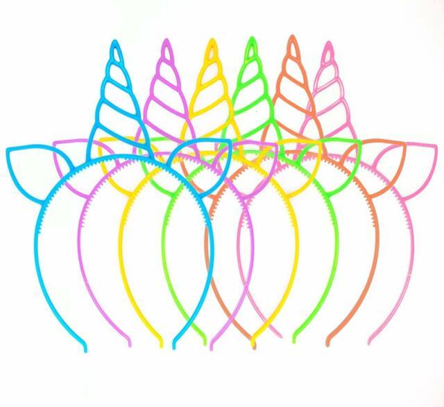 Unicorn Favors Headbands Unicorn Party Supply Girls Hair Accessories Light Up 12