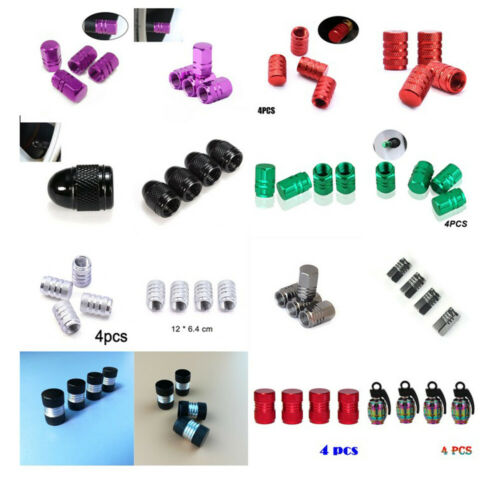 4 pcs Aluminum Tire Tyre Wheel Rim Air Valve Stem Dust Cap Cover Car Accessories
