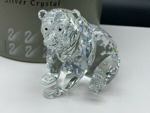 Swarovski-Figurine-243880-Ours-Grizzly-Assis-9-Cm-Emballage-amp-Certificat