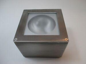 Esposizione soffitto viabizzuno cubo medium inox satinato kit halo