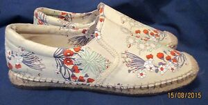 11a44fda8d8 Details about New **GIANNI BINI** Derby Lace FLORAL FABRIC Casual  Espadrilles Shoes 9 Med