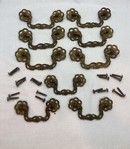 Lot of 6+3 Vintage KBC Keeler Brass Drawer Pulls SET KBC H492 H493 H497 H496