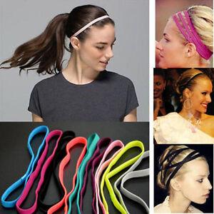 Colorful Headband Women Anti-slip Yoga Hair Band Elastic Rubber ... a147fd7a059