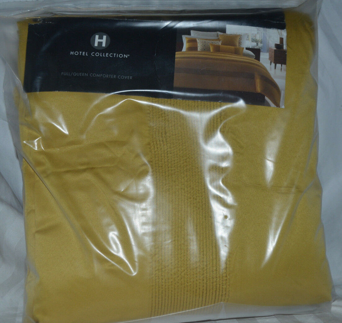 Hotel Collection- Full Queen Comforter Cover Mustard New