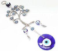 Turkish Blue Evil Eye (nazar) Life Tree Amulet Wall Hanging Home Decor Protectio on sale
