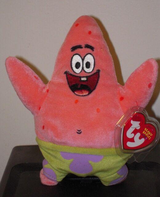 ty beanie baby babies patrick star starfish spongebob mwmts retired