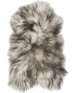 Grey Icelandic Sheepskin Rug Ultra