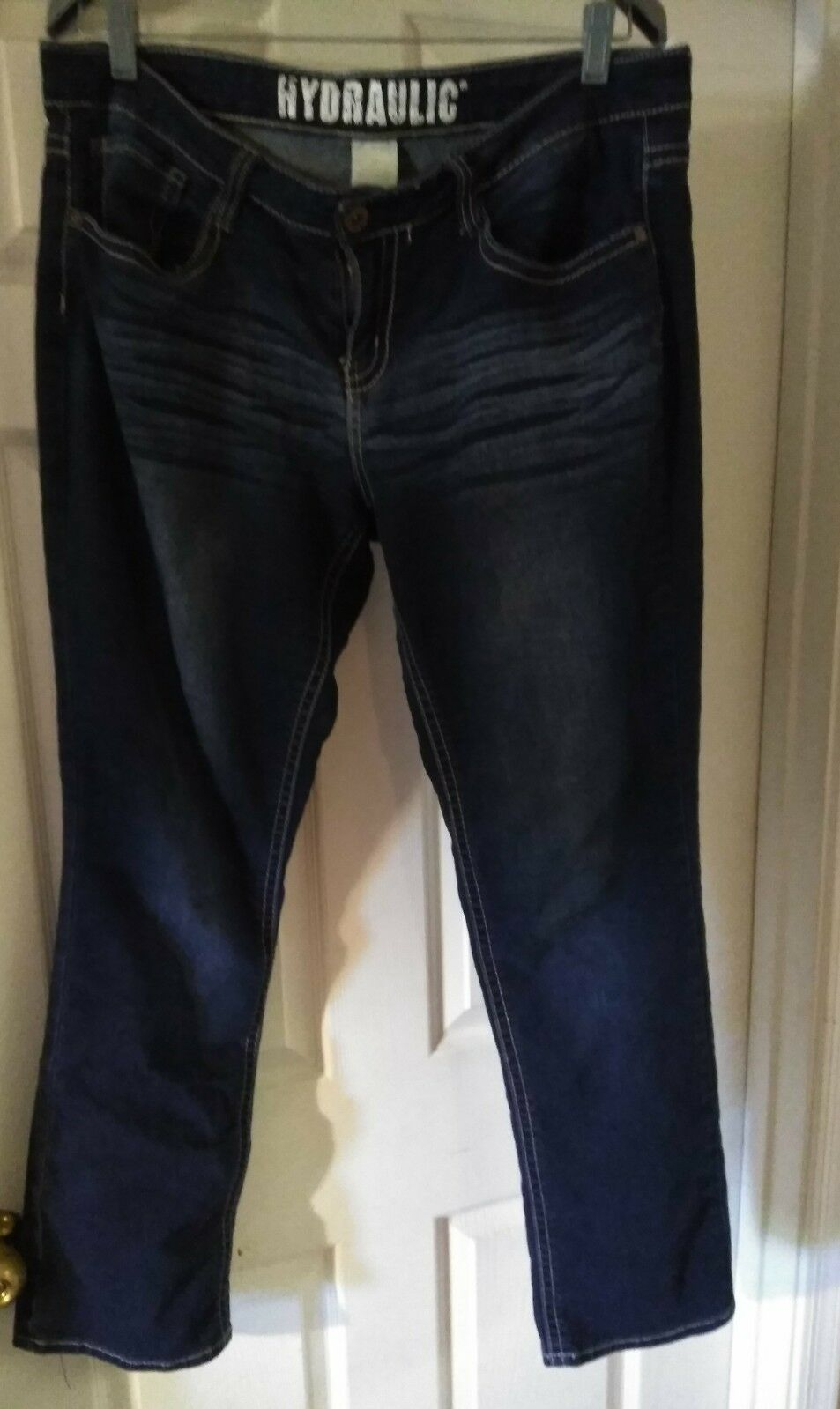 WOMEN'S HYDRAULIC STRETCH DARK blueE DENIM JEANS PLUS SIZE 16