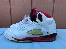 newest e4033 d4ddd 2008 Retro Nike Air Jordan 5s Fire Red 134092-163 GS Size 6y Laney Wolf  Grey   eBay