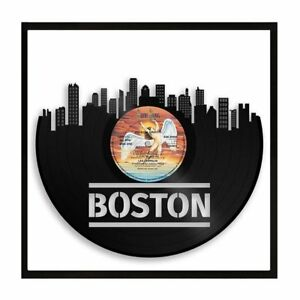 Image Is Loading Boston Vinyl Wall Art City Skyline Retro Decoration
