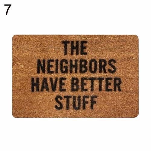 Outdoor Mat Letter Funny Welcome Home Entrance Floor Rug Non slip Carpet Decor