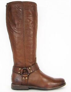 s l300 frye boots phillip harness tall cognac brown leather boots 76850