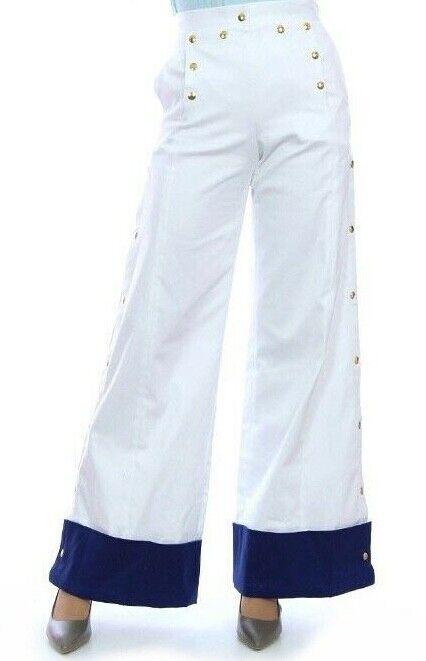 JC de CASTELBAJAC Hose Pants Trousers weiß Weiß Gold Gr. XS & M NEU mit Etikett