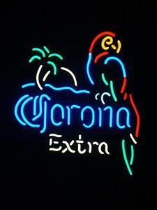 "New CORONA  EXTRA PARROT PALM TREE Bar Neon Light Sign 17/""x14/"""