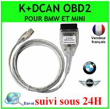 INTERFACE CABLE K+DCAN CAN USB OBD2 BMW MINI SCANNER DIAGNOSTIQUE INPA EDIABAS