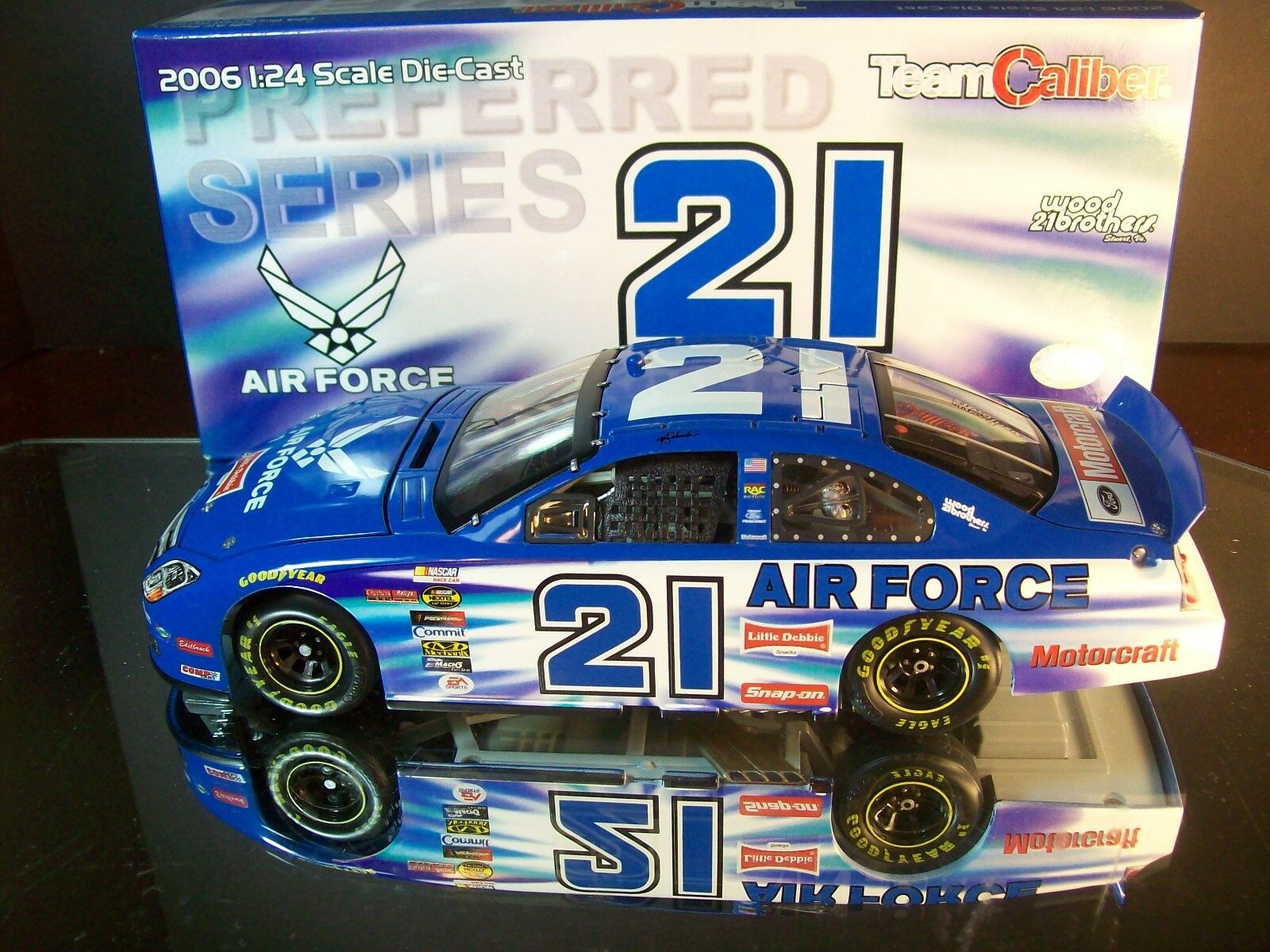 Raro Ken Schrader Motorcraft Air Force 2006 Ford Fusion 1 de 1,800