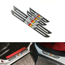 4x Jdm Ralliart B Carbon Fiber Car Door Welcome Plate Sill Scuff Cover Protector Fits 1999 Mitsubishi Mirage