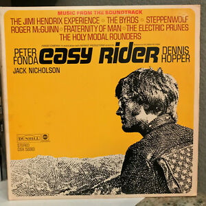 "EASY RIDER Movie Soundtrack (Dunhill DSX 50063) -12"" Vinyl Record LP- EX"