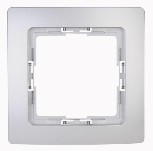 Kopp HK05 1-fach Rahmen silber 308420003