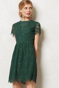 Anthropologie-DV-Dolce-Vita-Dress-Brown-Lace-Eyelash-034-Margaux-Dress-034-Sz-Medium