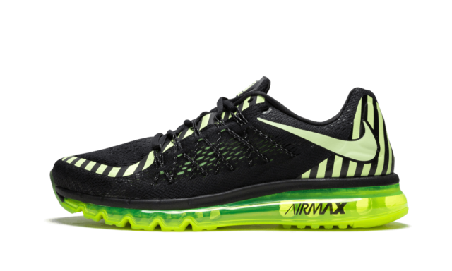 Nike Air Max 2015 Men's Running Shoes Size 11 Black Lime 746687 014