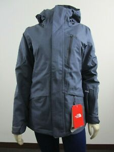 Womens-The-North-Face-TNF-Thermoball-Snow-Tri-Waterproof-Insulated-Jacket-Grey