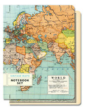 Cavallini & Co. Vintage Maps Set of 2 Notebooks ( 1 Lined / 1 Graph )
