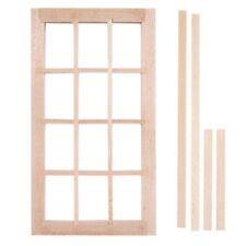"""Economy Window 2-1//2 x 5/"""" dollhouse miniature 1:12 scale wood.5034"""