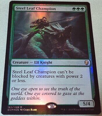 1x Dominaria Near Mint English -BFG- MTG Magic x1 Steel Leaf Champion