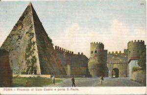 ROMA-PIRAMIDE-DI-CAIO-CESTIO-E-PORTA-S-PAOLA-DISEGNATA-DORSO-UNITO-NV