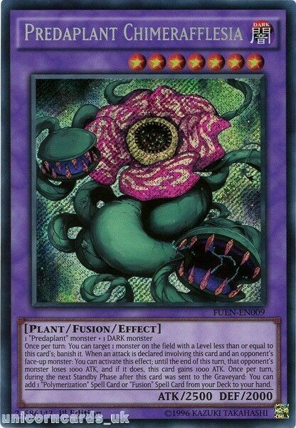 Yugioh 1st Edition FUEN-EN009 Predaplant Chimerafflesia Secret Rare