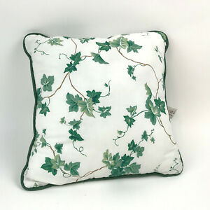 WAVERLY-Home-Fashion-ENGLISH-IVY-Lane-THROW-Pillow-16-034-White-GREEN-Vines-LEAVES