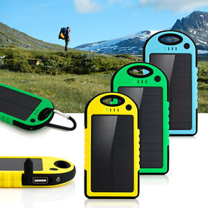 Cellphones & Telecommunications Useful Free Ship 5000mah Portable Waterproof Solar Charger Dual Usb External Battery Power Bank For Cell Phone Accessories Usb Cable Battery Charger Cases