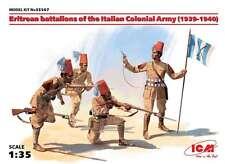 ICM 1/35 Eritrean Colonial Troops (1939-40), 1/35 scale, 4 Figures, World War II