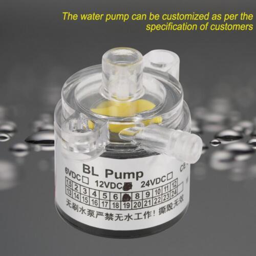 Mini Elektrisch Brushless Wasserpumpe bürstenlos Teichpumpe AC 12V 7W Rauscharm