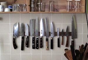 Magnetic Knife Holder Hardwood Ceramic Tile Or Marble