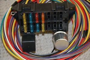 10 circuit basic wire harness fuse box street hot rat rod wiring car rh ebay com hot water heater fuse box hot fuzz box set