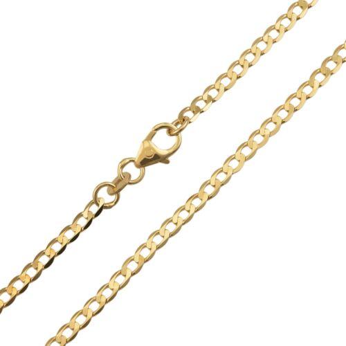 Panzerkette Halskette Goldkette Collier Echtgold 333//585 Gelbgold B 2,60mm