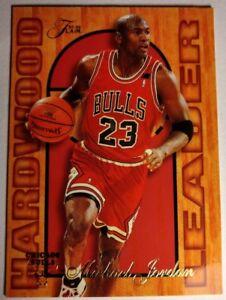 Michael-Jordan-Insert-1995-96-Fleer-Flair-Hardwood-Leader-4-Sharp-Card