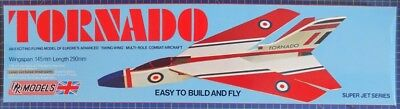 Tornado: DPR Catapault launched Glider Balsa Wood Model Plane Kit Wingspan 145mm